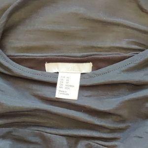 H&M black top with sheer shoulders
